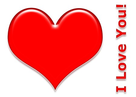 3d Red Love Heat with I Love You! text Фото со стока