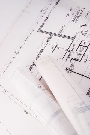bluelines: Plans of a house designed by an architect