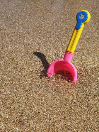 shovel in the sand
