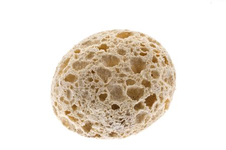 Pumice, isolated. Used in the bathroom to scratch the skin hardness Stock Photo