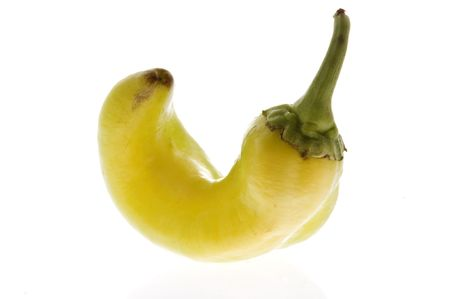 Isolated small green pepper