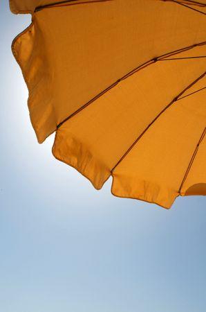 parasol and blue sky
