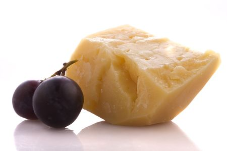 Chease and grape Stock Photo