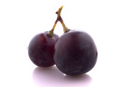Two fruits of grape, insolated
