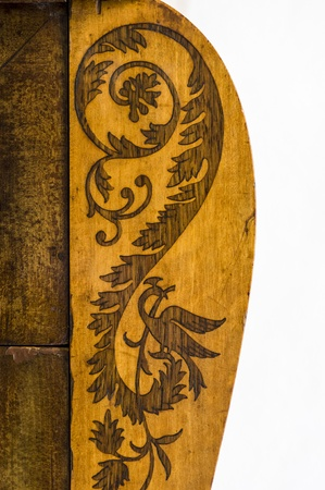 Detail of an old furniture marquetry Stock Photo - 13813861