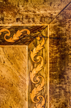 Detail of an old furniture marquetry Stock Photo - 13813864