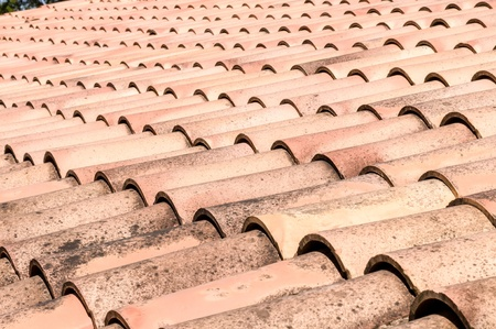 roof built with terracotta tiles