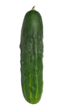 unsliced: Cucumber on white background