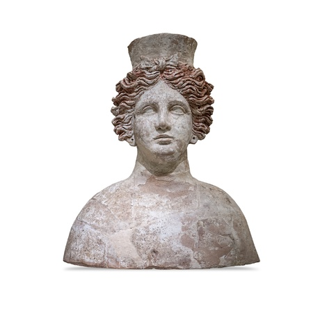 fertility goddess: Bust of Tanit, the goddess of fertility and love Stock Photo