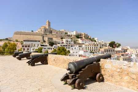 Ibiza old town area, known as Dalt Vila  World Heritage Site by Unesco in 1999  Stock Photo