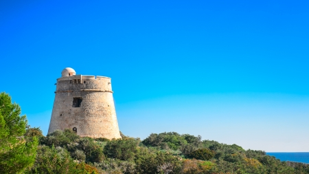 Ibiza Tower Defense  Sa Sal Rosa   Used to protect against pirates  Located in the natural park of Ses Salines