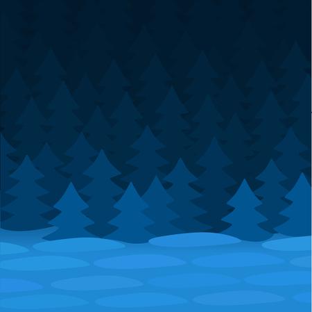 spruce: Blue winter night near the spruce forest.
