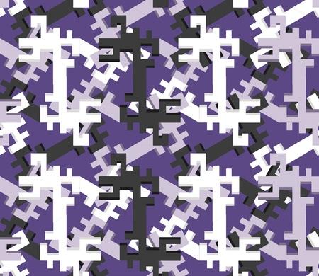 Geometric seamless pattern. Vector design. Chaos and order. Çizim