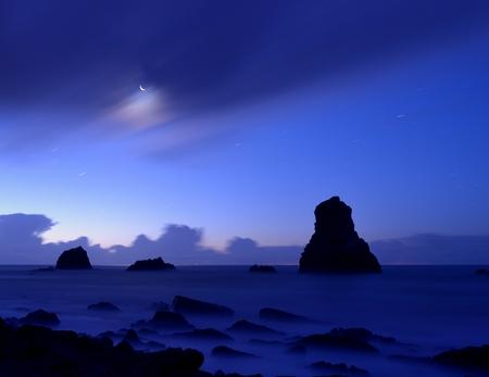 mupe bay: crescent moon Stock Photo