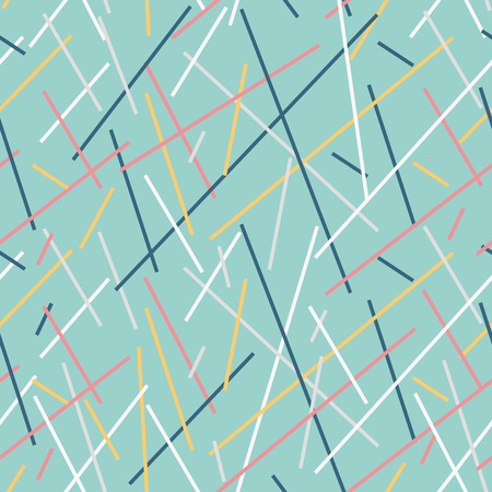 stria: Stylish geometric striped background. Vector seamless pattern of color lines.