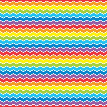 stripes seamless: Bright rainbow zigzag background. Seamless vector pattern. Illustration