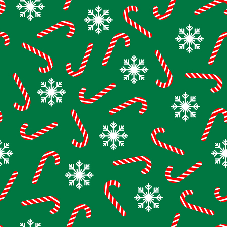 christmass: Christmass seamless pattern with candies and snowflakes. Vector background.