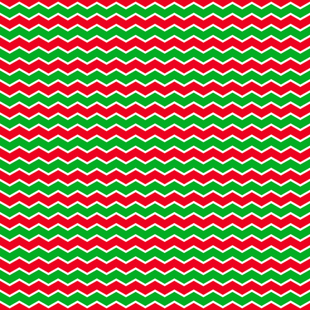 christmass: Christmass background with green and red zig-zag stripes. Vector seamless pattern.