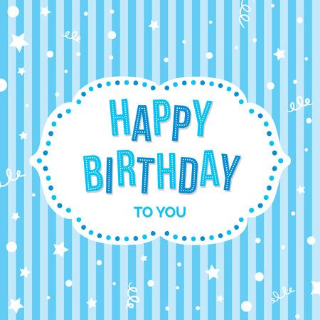 auguri di compleanno: Buon compleanno Greeting Card. Vector sfondo colorato di festa.