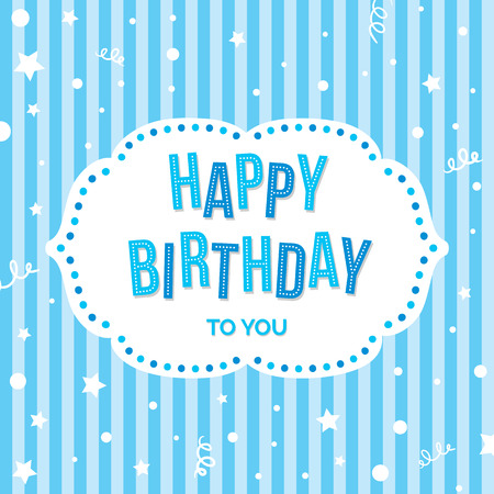 happy people: Happy Birthday Greeting Card. Vector colorful festive background.