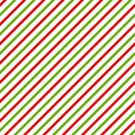 녹색, 빨간색과 흰색 대각선 줄무늬 크리스마스 배경.