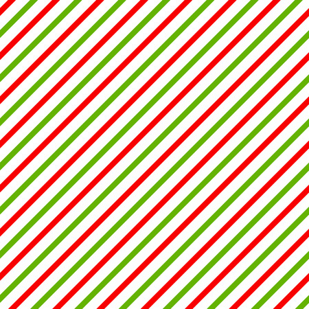 Christmas background with green, red and white diagonal stripes.  Illustration