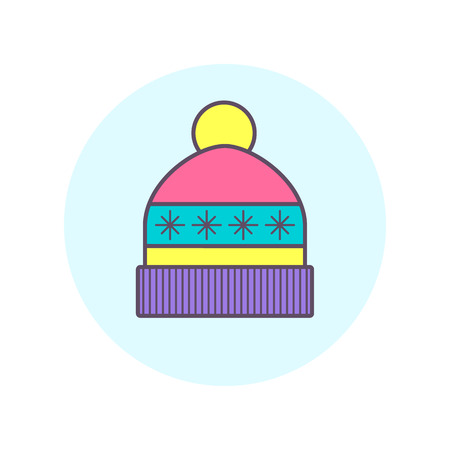 ski wear: Winter cap icon. One of vector icon set.
