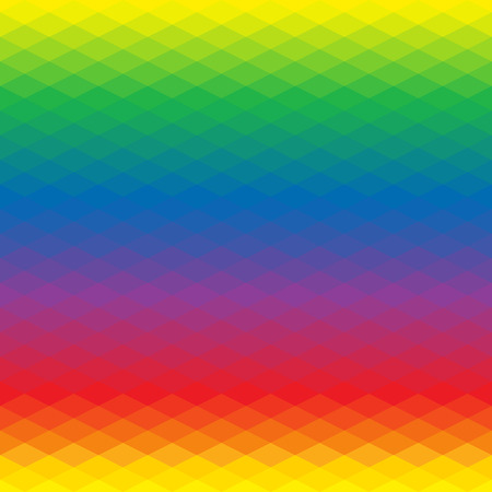 Abstract background of rhombus. Geometry triangle, mosaic illustration with rainbow colors.