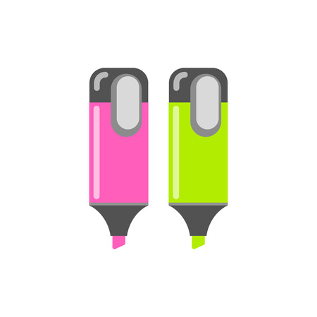 Marker icon. Vector object with flat style. Set of stationery.
