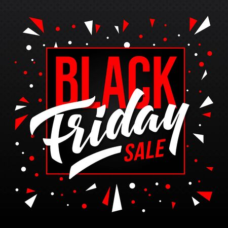 Black Friday Sale banner. Vector template for advertising. 向量圖像