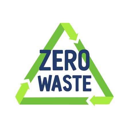 Zero waste and recycling sign. Sustainable developments concept. Recycle and reuse, reduce - ecological rules of life.