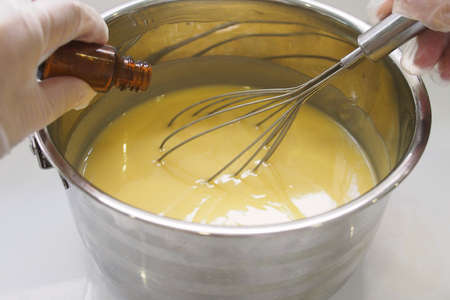 Process of homemade soap Standard-Bild