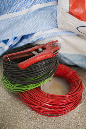 Electrical wires and a wire cutter
