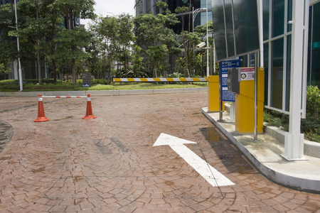 automatic barrier gate at parking entry Standard-Bild