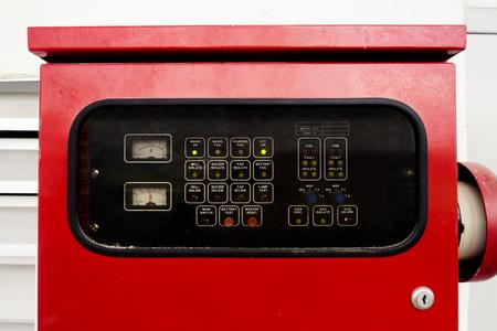 close up of fire alarm control panel Standard-Bild