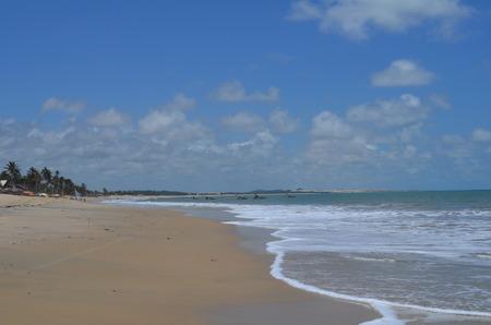 Endless sandy beach, Cumbuco, Brazil