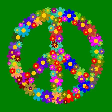 pacifist: Floral peace Symbol
