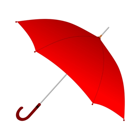 torrential rain: Red Umbrella - Illustration