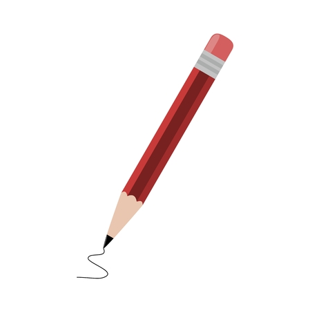 red pencil: Red pencil - illustration Illustration