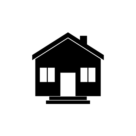 housing problems: Black house on white background