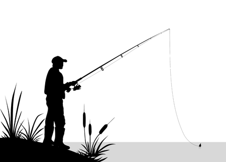 out of body: Fishing - Illustration