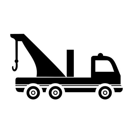 breakdown truck: Breakdown truck - evacuator car Illustration