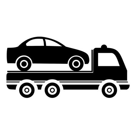 Car towing truck - illustration