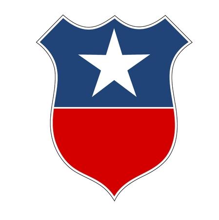 secrecy of voting: American flag shield illustration