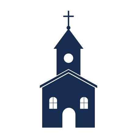 european culture: Church on white background - Illustration Illustration