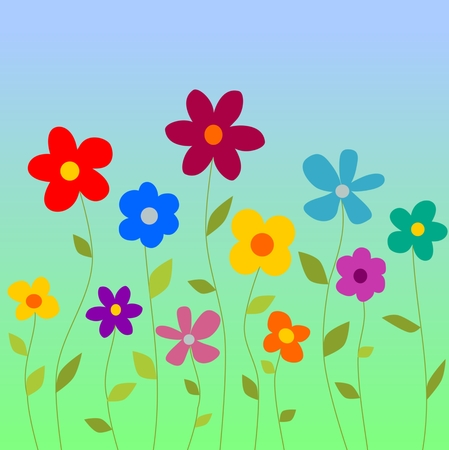 formal garden: Spring flovers