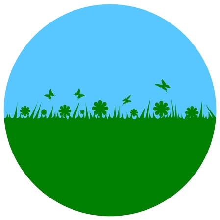wind power: Earth Day - circle Illustration