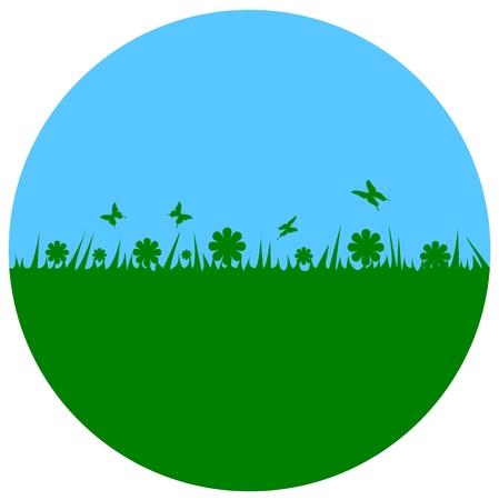 Earth Day - circle Ilustração