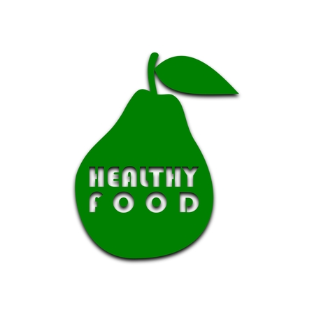 dietary fiber: Healthy Food Pear - illustration Illustration