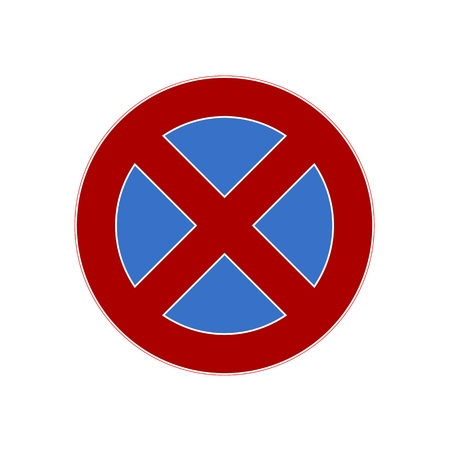 carriageway: No parking sign Illustration